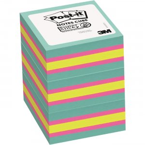 Post-it Super Sticky Notes Cubes 2027SSAFG3PK MMM2027SSAFG3PK