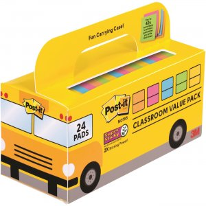 Post-it Notes Super Sticky Classroom Value Pack 65424SSBUS MMM65424SSBUS