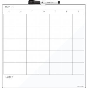 U Brands Cubicle Magnetic Dry-Erase Calendar Board 461U0004 UBR461U0004