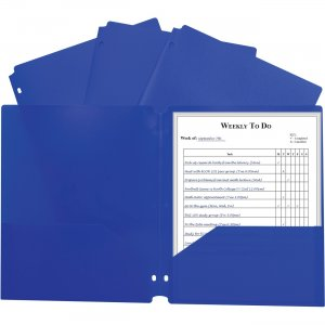 C-Line 2-pocket Heavyweight Poly Portfolio Pocket 33935 CLI33935 CLI-33935