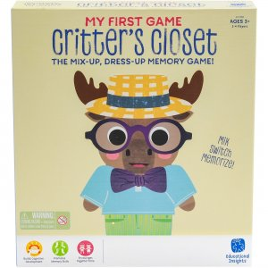 Educational Insights My First Game Critter's Closet 1702 EII1702