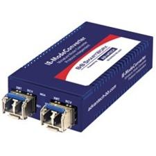 B+B SmartWorx 10/100/1000Mbps Miniature Media Converter IMC-370I-2SFP-PS