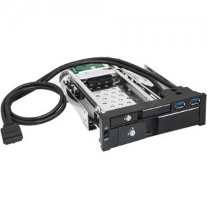 "SYBA Multimedia 5.25"" Dual Bay Mobil Rack (without 2.5"", 3.5"" HDD) SY-MRA55007"