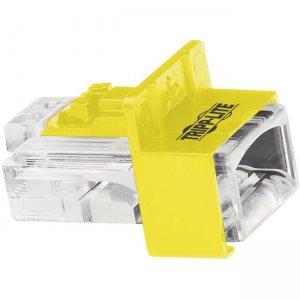Tripp Lite Universal RJ45 Locking Inserts, Yellow, 10 Pack N2LPLUG-010-YW