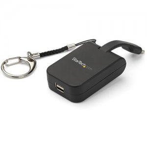 StarTech.com Portable USB-C to VGA Adapter with Quick-Connect Keychain CDP2VGAFC