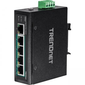 TRENDnet 5-Port Industrial Gigabit PoE+ DIN-Rail Switch TI-PG50