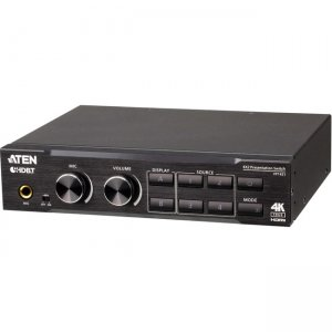Aten 4 x 2 True 4K Presentation Matrix Switch with Scaling, DSP, and HDBaseT-Lite VP1421