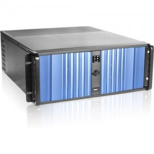 iStarUSA D Storm Server Case with Blue SEA Bezel and HDD Hot-swap Rack D-400SEA-BL-T7SA