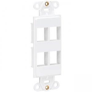 Tripp Lite Center Plate Insert, Decora Style - Vertical, 4 Ports N042D-004V-WH