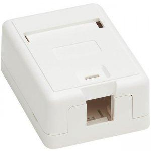 Tripp Lite Surface-Mount Box for Keystone Jack - 1 Port, White N082-001-WH