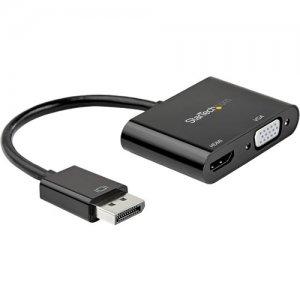 StarTech.com DisplayPort To HDMI VGA Adapter - 4K 60Hz DP2VGAHD20