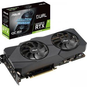Asus Dual GeForce RTX 2080 SUPER EVO V2 OC Edition Graphic Card DUAL-RTX2080S-O8G-EVO-V2