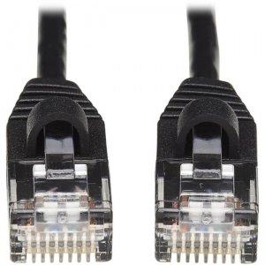 Tripp Lite Cat6a 10G Snagless Molded Slim UTP Ethernet Cable (RJ45 M/M), Black, 15 ft N261-S15-BK