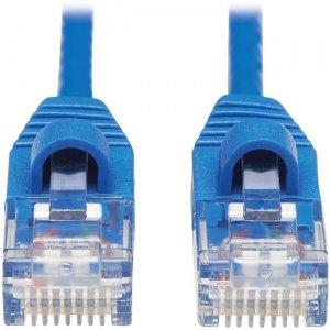 Tripp Lite Cat6a 10G Snagless Molded Slim UTP Ethernet Cable (RJ45 M/M), Blue, 15 ft N261-S15-BL