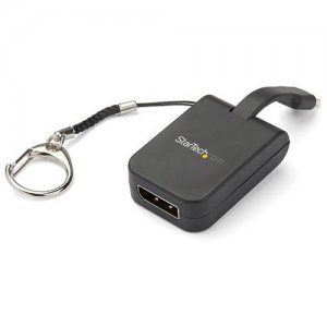StarTech.com Portable USB-C to DisplayPort Adapter with Quick- Connect Keychain CDP2DPFC