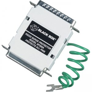 Black Box RS-232 Serial Surge Protector - 18Vdc Clamping Voltage, 60-Amp, DB25, 25-Wire SP360A