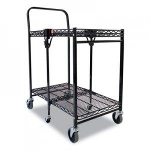 Bostitch Stowaway Folding Carts, 2 Shelves, 29.63w x 37.25d x 18h, Black, 250 lb Capacity BOSBSACSMBLK BSAC-SM