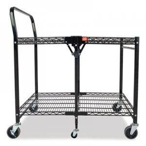 Bostitch Stowaway Folding Carts, 2 Shelves, 35w x 37.25d x 22h, Black, 250 lb Capacity BOSBSACLGBLK BSAC-LG-BLACK