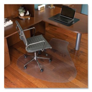 ES Robbins EverLife Workstation Chair Mat for Hard Floors, With Lip, 66 x 60, Clear ESR132775 132775