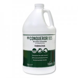 Fresh Products Bio Conqueror 105 Enzymatic Odor Counteractant Concentrate, Lavendar, 1 gal, 4/Carton FRS1BWBLAV 105G-F-000I004M-11