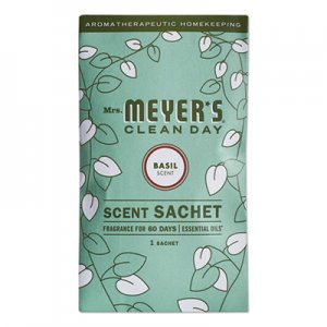 Mrs. Meyer's Clean Day Scent Sachets, Basil, 0.05 lbs Sachet, 18/Carton SJN308116 308116