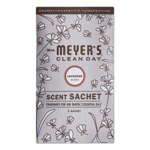 Mrs. Meyer's Clean Day Scent Sachets, Lavender, 0.05 lbs Sachet, 18/Carton SJN308115 308115