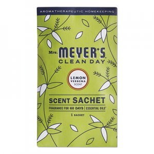 Mrs. Meyer's Clean Day Scent Sachets, Lemon Verbena, 0.05 lbs Sachet, 18/Carton SJN308114 308114