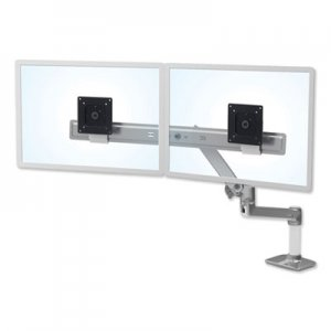 """Ergotron Ergotron LX Dual Direct Monitor Arm for Monitors up to 25"""", 33.5w x 33.5d x 21h, Polished"""