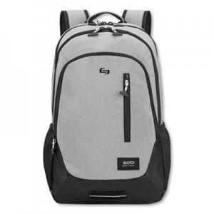 """Solo Region Backpack, For 15.6"""" Laptops, 13 x 5 x 19, Light Gray USLVAR70410 VAR704-10"""