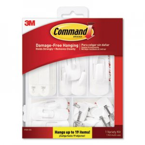 Command General Purpose Hooks, Variety Pack, Assorted Sizes, 54 Pieces/Pack MMM17231ES 17231ES