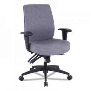 Alera Alera Wrigley Series 24/7 High Performance Mid-Back Multifunction Task Chair, Up to 275 lbs., Gray Seat/Back