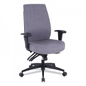 Alera Alera Wrigley Series 24/7 High Performance High-Back Multifunction Task Chair, Up to 275 lbs., Gray Seat/Back