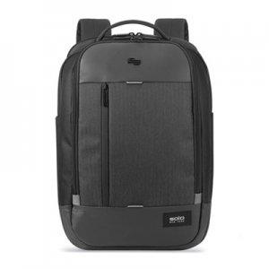"Solo Magnitude Backpack, For 17.3"" Laptops, 12.5 x 6 x 18.5, Black Herringbone USLGRV7004 GRV700-4"