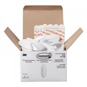 Command Designer Hooks, Plastic, White, 5 lb Cap, 16 Hooks and 24 Strips/Pack MMM17083S16NA 17083S16NA