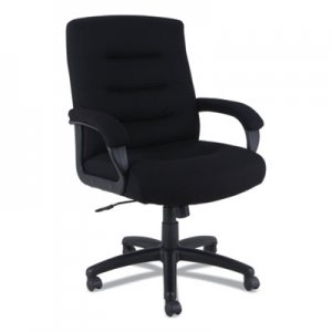 Alera Alera Kesson Series Mid-Back Office Chair, Supports up to 300 lbs., Black Seat/Black Back, Black Base ALEKS4210