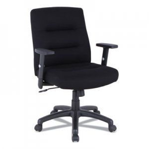 Alera Alera Kesson Series Petite Office Chair, Supports up to 300 lbs., Black Seat/Black Back, Black Base ALEKS4010 12010