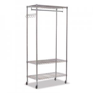 Alera Wire Shelving Garment Rack, 30 Garments, 36w x 18d x 75h, Silver ALEGR363618SR