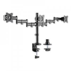 "Alera AdaptivErgo Pole-Mounted Monitor Arm, Triple Monitor up to 27"", Black ALEAEMA3B"