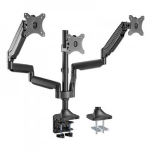 "Alera AdaptivErgo Heavy-Duty Articulating Triple Monitor Arm with USB, 32"", Black ALEAEMA3H"
