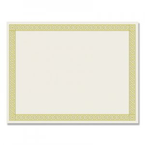 Great Papers! Foil Border Certificates, 8.5 x 11, Ivory/Gold, Channel, 12/Pack COS963070 963070