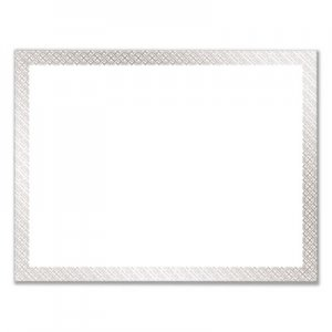 Great Papers! Foil Border Certificates, 8.5 x 11, White/Silver, Braided, 15/Pack COS963027 963027