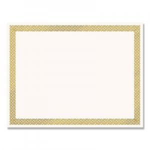 Great Papers! Foil Border Certificates, 8.5 x 11, Ivory/Gold, Braided, 12/Pack COS936060 936060