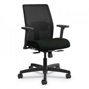 HON Ignition 2.0 4-Way Stretch Low-Back Mesh Task Chair, Supports up to 300 lbs, Black Seat/Back