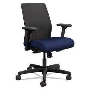 HON Ignition 2.0 4-Way Stretch Low-Back Mesh Task Chair, Supports up to 300 lbs., Black Seat, Black
