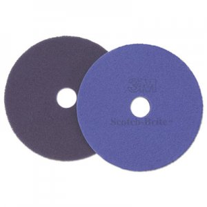 "Scotch-Brite Diamond Floor Pads, 27"", Purple, 5/Carton MMM20321 20321"
