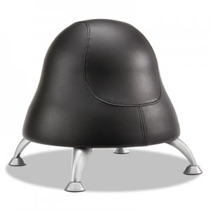 Safco Runtz Ball Chair, Black Seat/Black Back, Silver Base SAF4756BV 4756BV