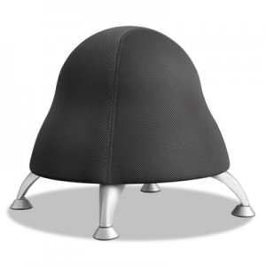 Safco Runtz Ball Chair, Licorice Black Seat/Licorice Black Back, Silver Base SAF4755BL 4755BL
