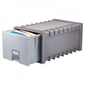"Storex Archive Storage Drawers, Letter Files, 15.25"" x 24"" x 11.5"", Gray STX61101U01C 61101U01C"