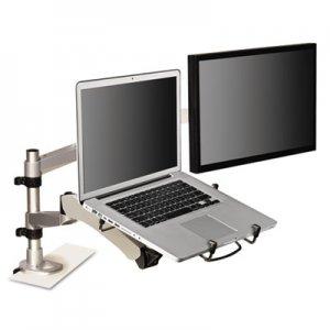 3M Monitor Arm Laptop Adapter, 3.75w x 12.25d x 13.38h, Silver/Black MMMMALAPTOP2 MALAPTOP2
