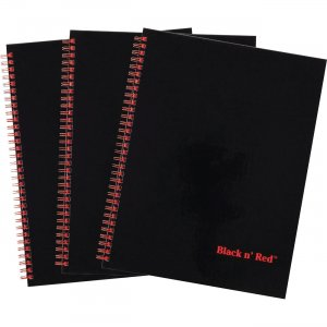 Black n' Red Hardcover Twinwire Business Notebook 400123488 JDK400123488